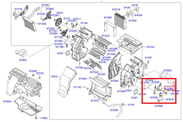 Oem Havc Heater Door Actuator Hyundai Sonata Santafe
