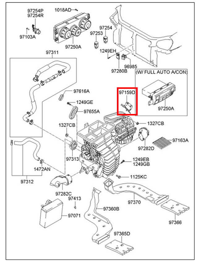 231309914489 on 2005 cadillac deville heater diagram